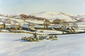 Swaledale Sheep Paintings by Diana Rosemary Lodge