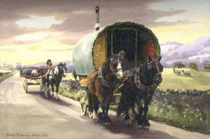 Gypsy Caravan Paintings by Diana Rosemary Lodge