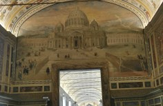 Vatican Museum Hallway - St Peter's Basilica