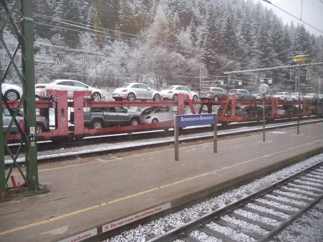 Freight train Brenner Pass