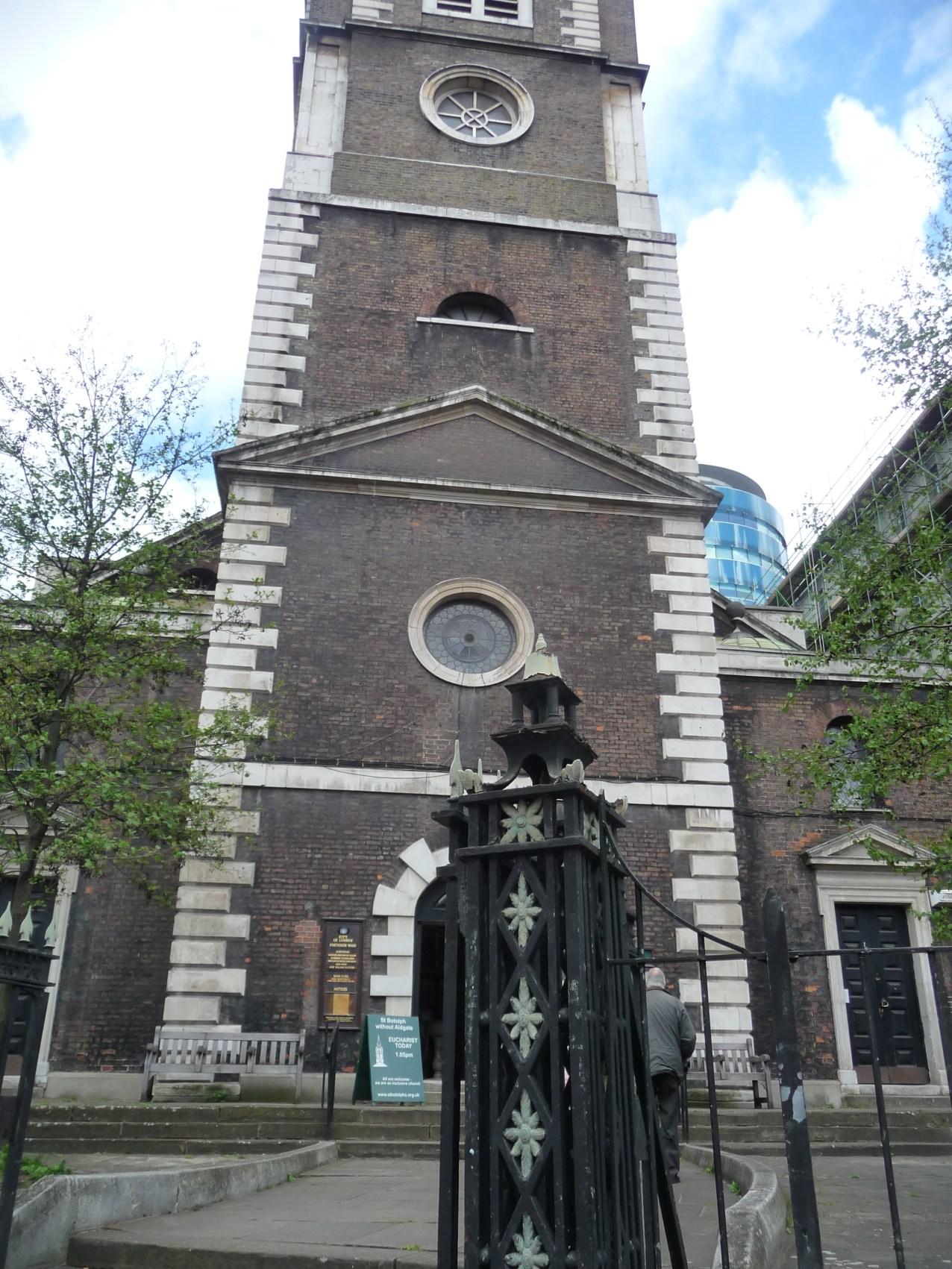 Outside St Botolph's Aldgate