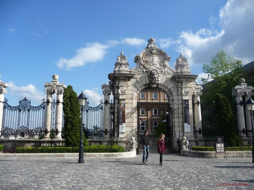 Entrance gate to the former Hapsburg Royal Palace Buda