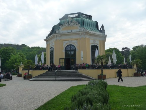 Today the Kaiser Pavilion at Schoenbrunn Zoo (Vienna Zoo) is used as a cafe/restaurant. It is situated in the centre of the zoo grounds