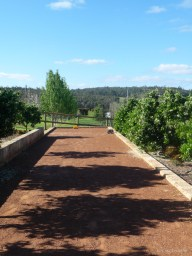 The Bocce court in the grounds