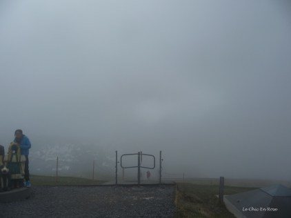 The view once the fog had descended!