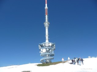 The TV tower at the top of Rigi Kulm