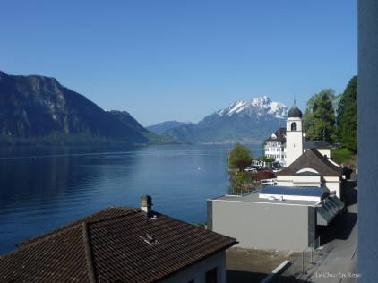 View back in the direction of Lucerne from Post Hotel Weggis