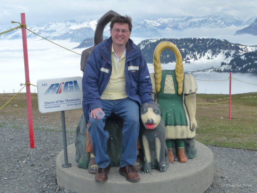 The Queen Of The Mountains Monument at the top of Rigi