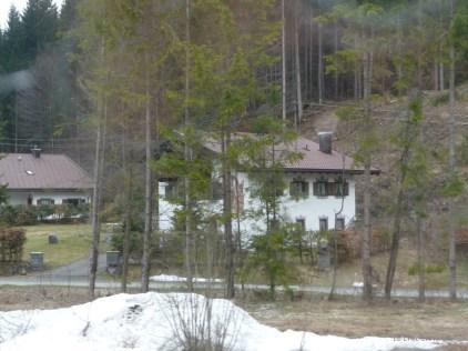 Snow alongside the Mittenwald Garmisch line