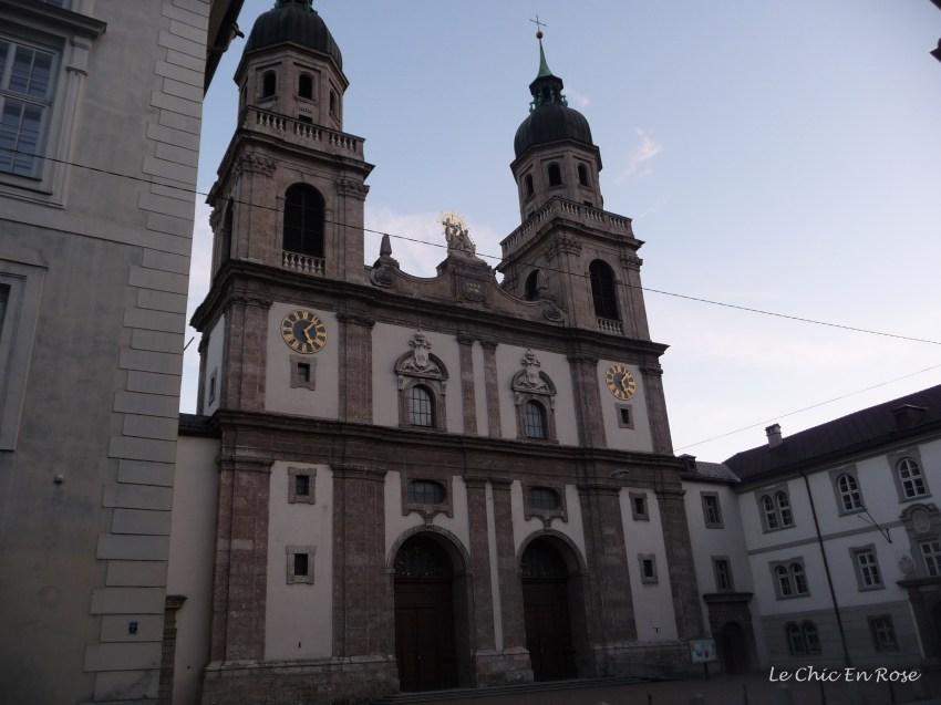 The exterior of the Hofkirche Innsbruck