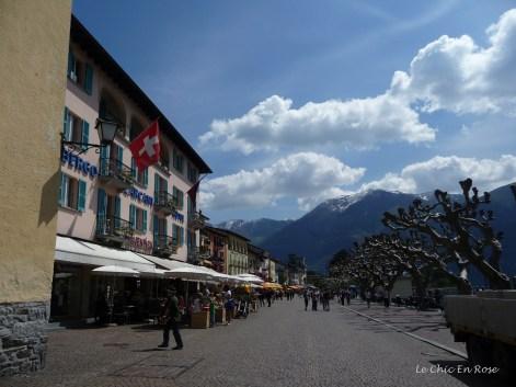 Restaurants along the lakeside promenade Ascona