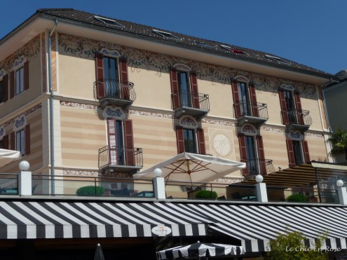 I loved all the awnings on the hotels and restaurants lakeside Ascona