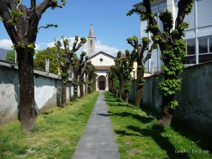 Path leading to Church of Santa Maria Misericordia and Collegio Papio