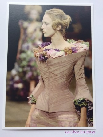 Postcard of Alexander McQueen's work at the V&A