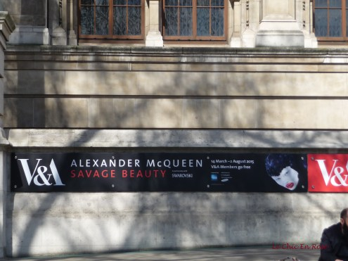 Advertising poster for the Alexander McQueen Exhibition at the V&A