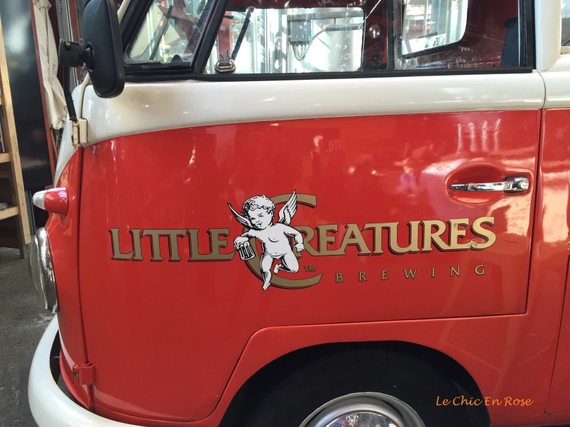 The Kombi van takes pride of place near the entrance to the restaurant