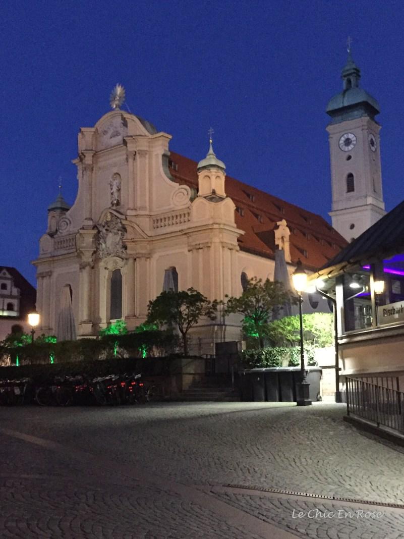 St Peter's Kirche Munich Altstadt by night