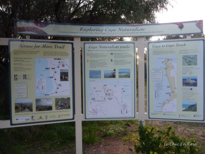 Walking trail signs at Cape Naturaliste