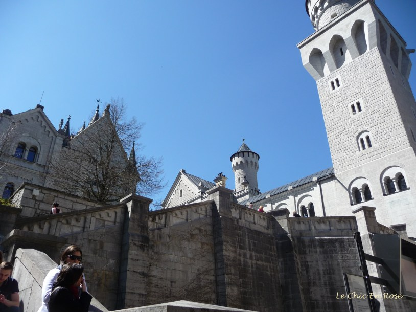 Looking up to the castle