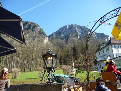 View of the Alps from our tea table