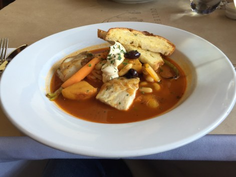 Dish of the day - hearty fish stew