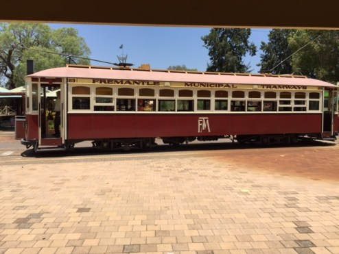 The tram ride is one of the highlights of a visit to Whiteman Park