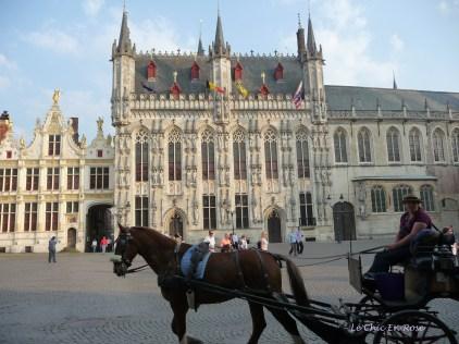 Old square in Bruges