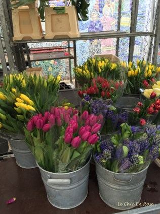 Tulips on sale at the Colombia Road Flower Markets