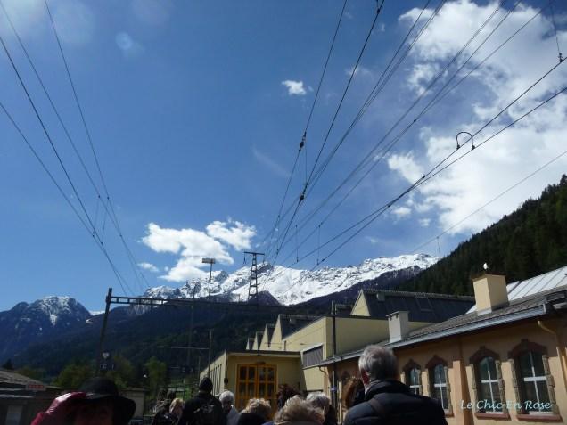 Blue Skies And Mountains At Poschiavo