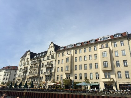 Cafes and Restaurants Along The River Spree