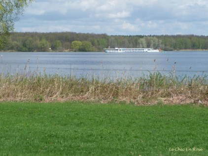 Pleasure Boat On The River Havel Near Glienicke Bridge