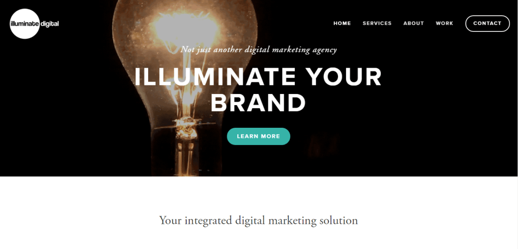 Illuminate Digital homepage1