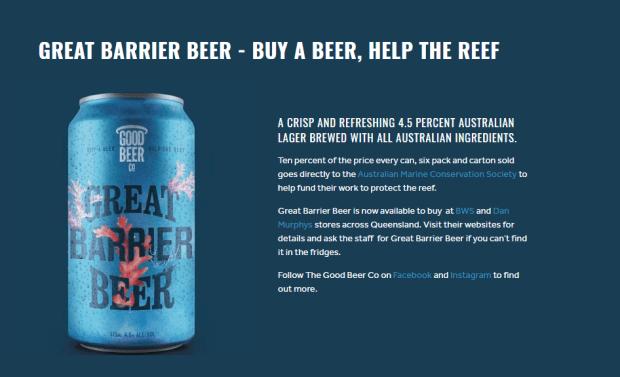 Great Barrier Beer-headline messaging