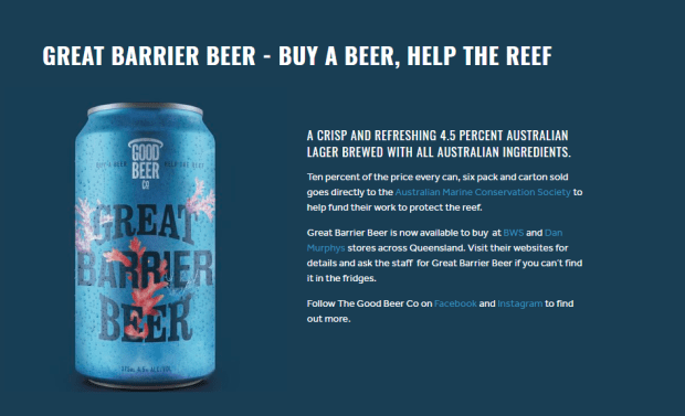 Great Barrier Beer-headline messaging