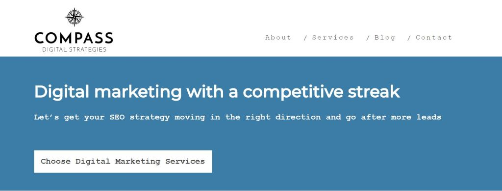 Copywriting Case Study - Compass Digital Strategies homepage copy by Rose Crompton