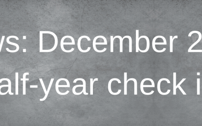 News: December 2019 half-year check in