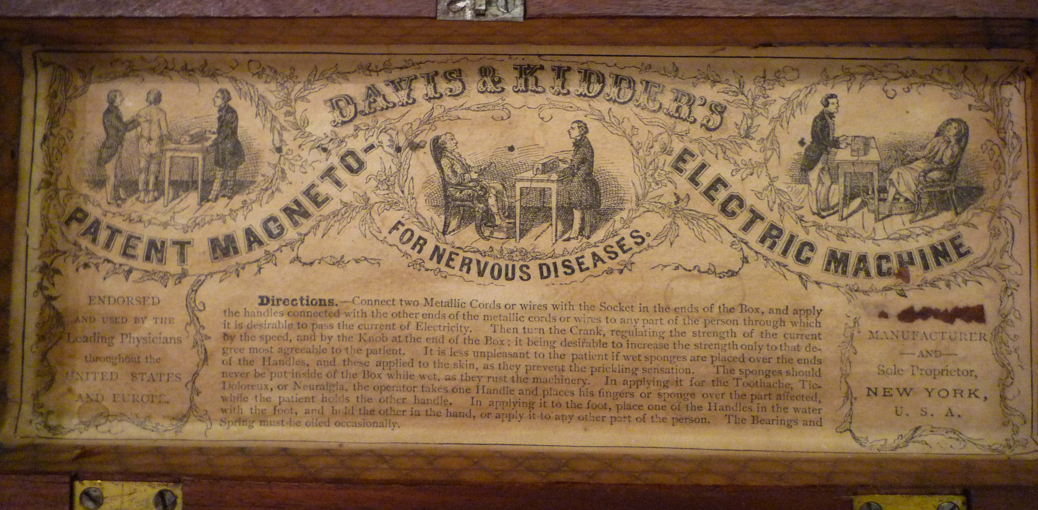 Davis and Kidder's Magneto-Electric machine for nervous diseases