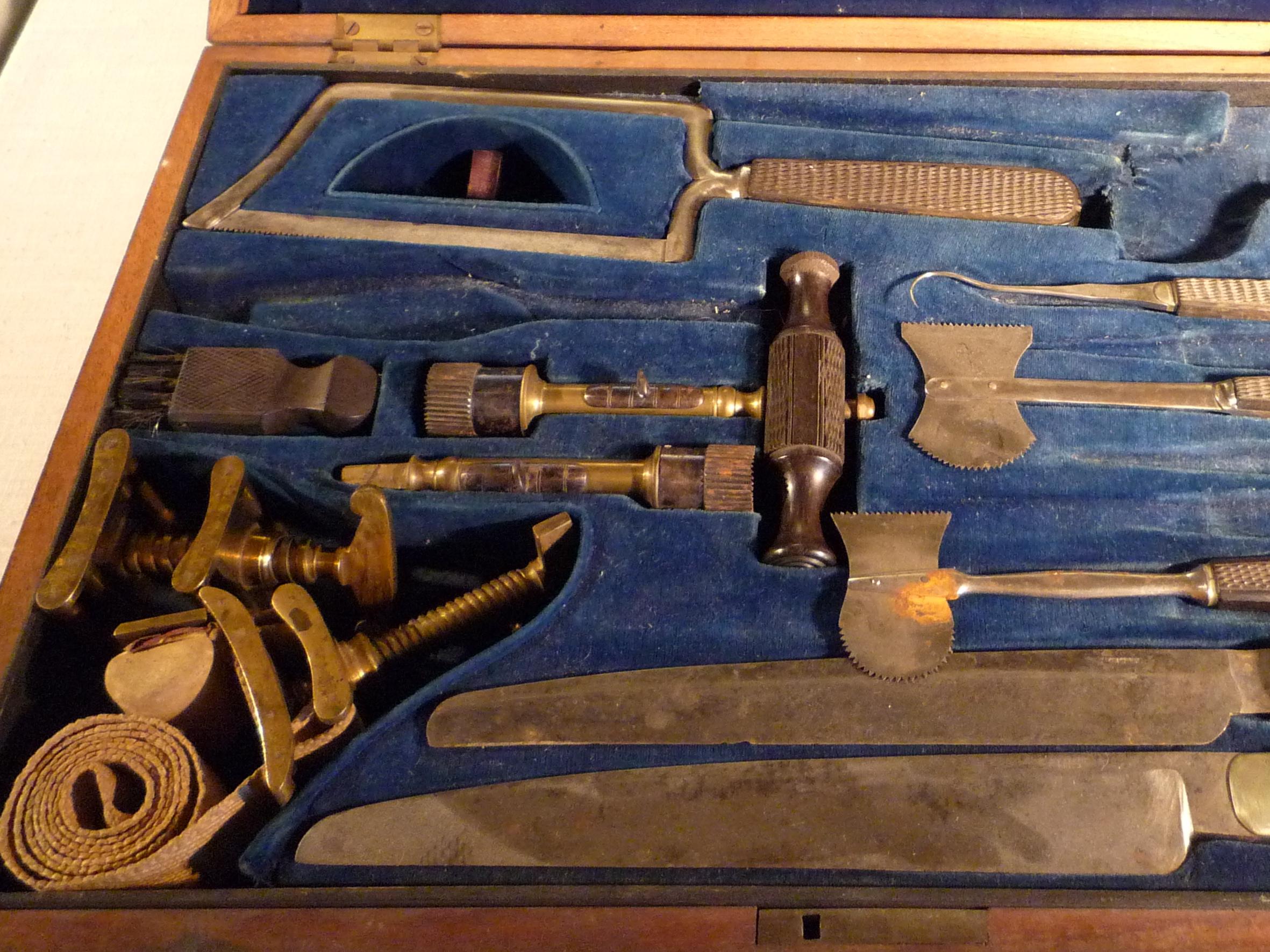 detail of surgical kit (J.H. Gemrig, 1840-1880)