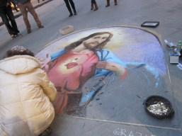 Beautiful chalk painting of Jesus