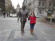 Ronald Reagan statue in Budapest..