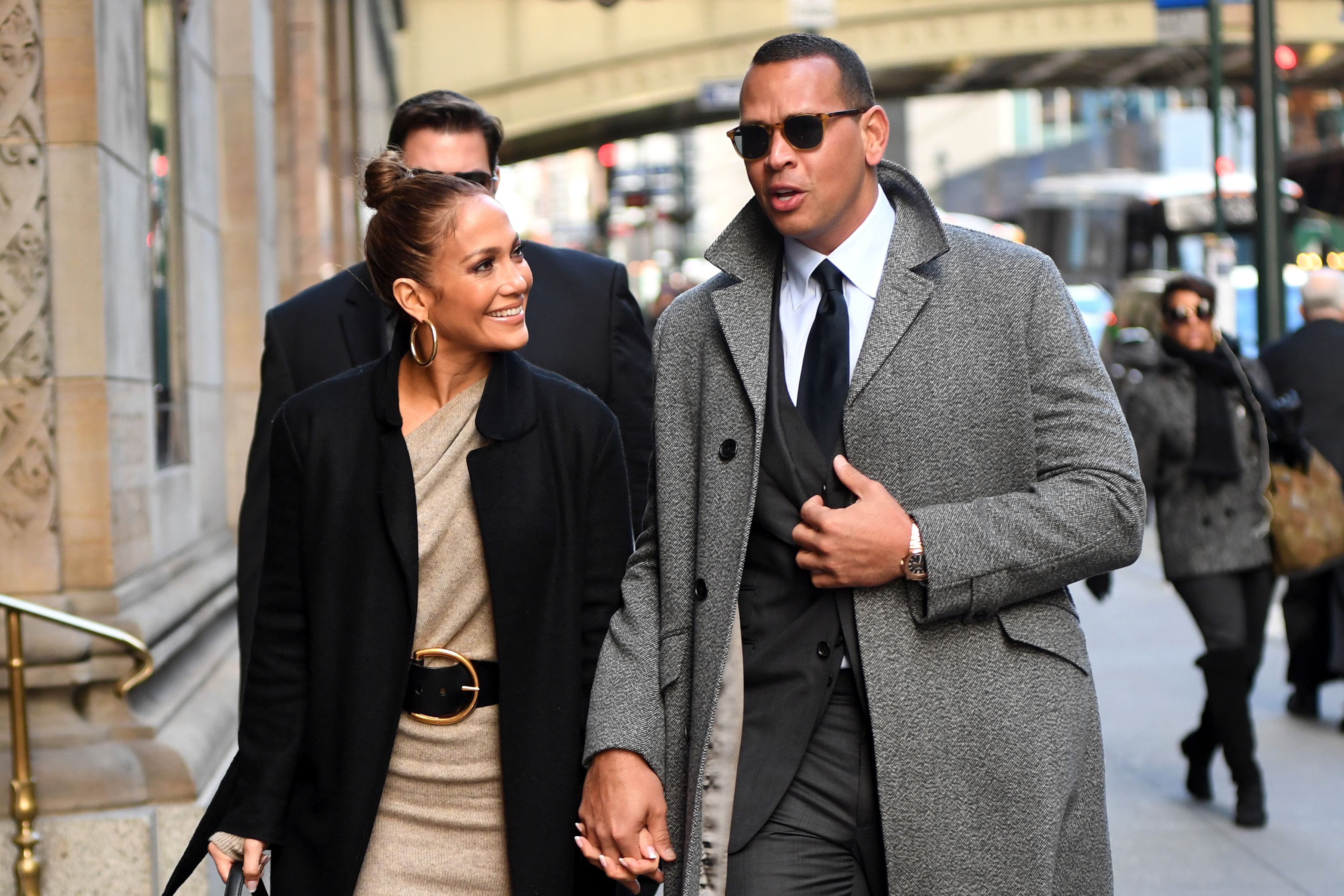 EXCLUSIVE: Jennifer Lopez Steps our for breakfast with her boyfriend Alex Rodriguez this morning