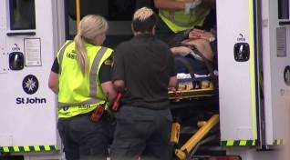 "An image grab from TV New Zealand taken on March 15, 2019 shows a victim arriving at a hospital following the mosque shooting in Christchurch. At least one gunman who targeted crowded mosques in the New Zealand city of Christchurch killed a number of people, police said, with Prime Minister Jacinda Ardern describing the shooting as ""one of New Zealand's darkest days"". - New Zealand OUT / XGTY----EDITORS NOTE ----RESTRICTED TO EDITORIAL USE MANDATORY CREDIT "" AFP PHOTO / TV New Zealand / NO MARKETING NO ADVERTISING CAMPAIGNS - DISTRIBUTED AS A SERVICE TO CLIENTS- NO ARCHIVE / AFP / TV New Zealand / TV New Zealand / XGTY----EDITORS NOTE ----RESTRICTED TO EDITORIAL USE MANDATORY CREDIT "" AFP PHOTO / TV New Zealand / NO MARKETING NO ADVERTISING CAMPAIGNS - DISTRIBUTED AS A SERVICE TO CLIENTS- NO ARCHIVE"