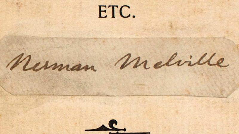 Hands On Tour Herman Melville The Rosenbach