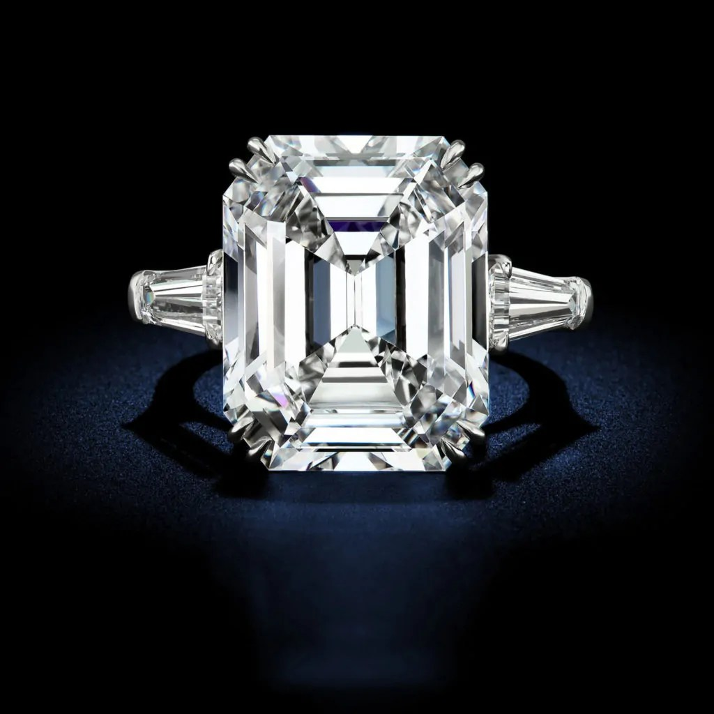 25 03 Carat D Flawless Type Iia Emerald Diamond Ring Rosenberg Diamonds Amp Co