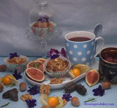 Haferflockentörtchen mit Tee