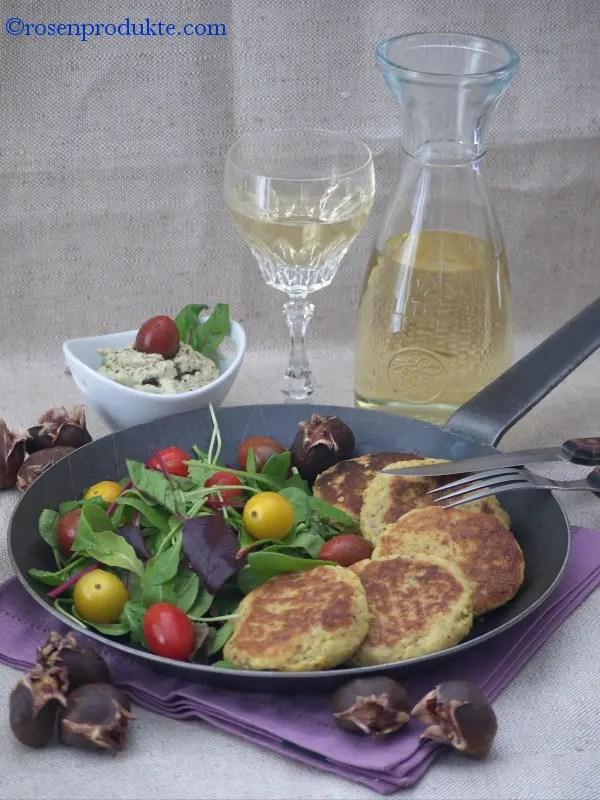 Avokado-Creme mit Maronen Rösti