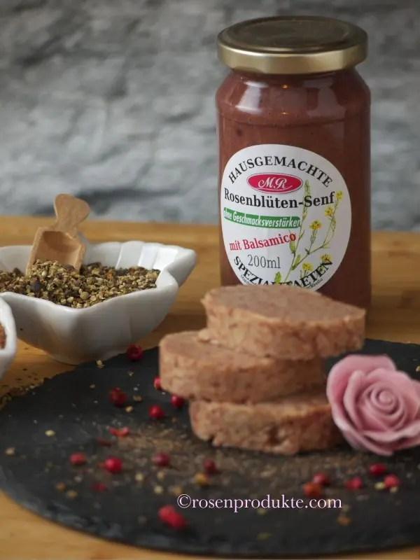 Rosenblüten-Senf für Rosen-Senf-Butter