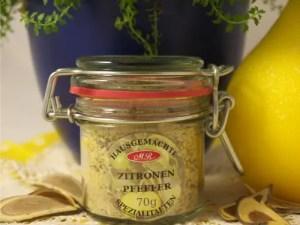 Zitronen Pfeffer für Gemüse Food Bowls