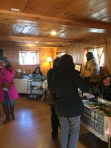 Busy day at RosenSpace on Dec. 10th (Frozendale street festival) - literally dozens of people filing in at a time to chek out our Winter Gift Sale!