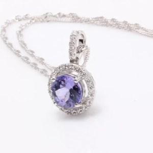 tanzanit diamond necklace